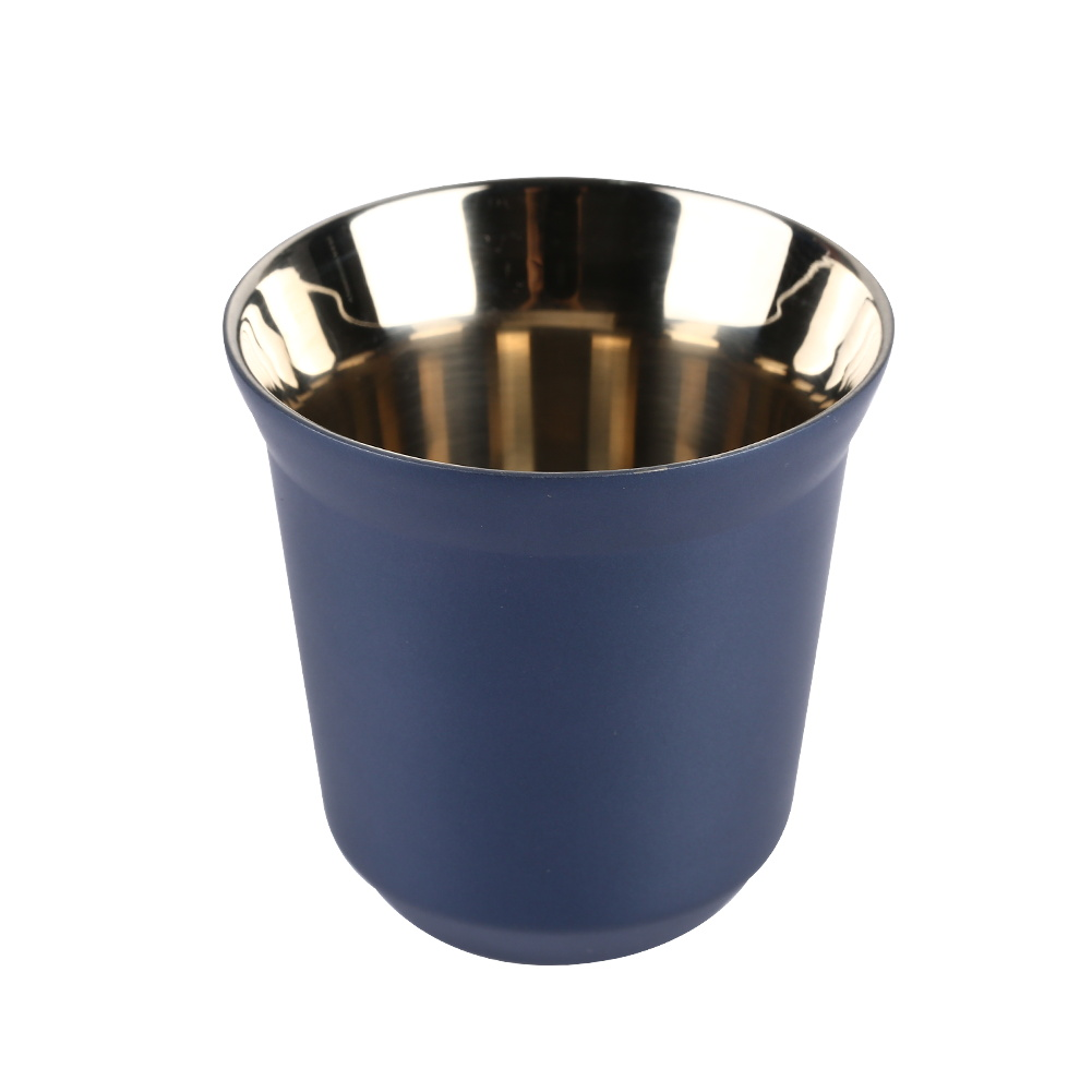 Espresso Cups - Dianoo Stainless Steel Double Wall Insulated Coffee Mugs Dark Blue