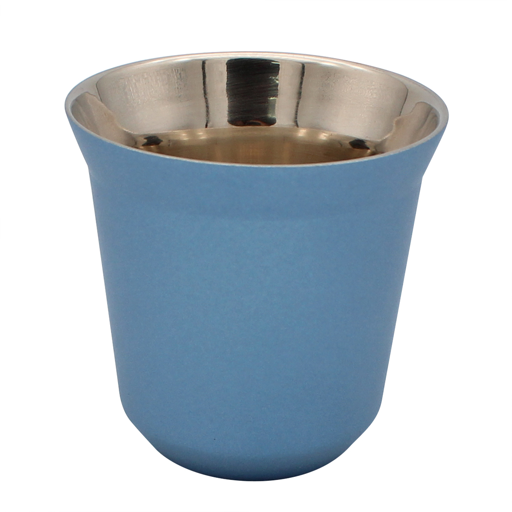 Espresso Cups - Dianoo Stainless Steel Double Wall Insulated Coffee Mugs blue