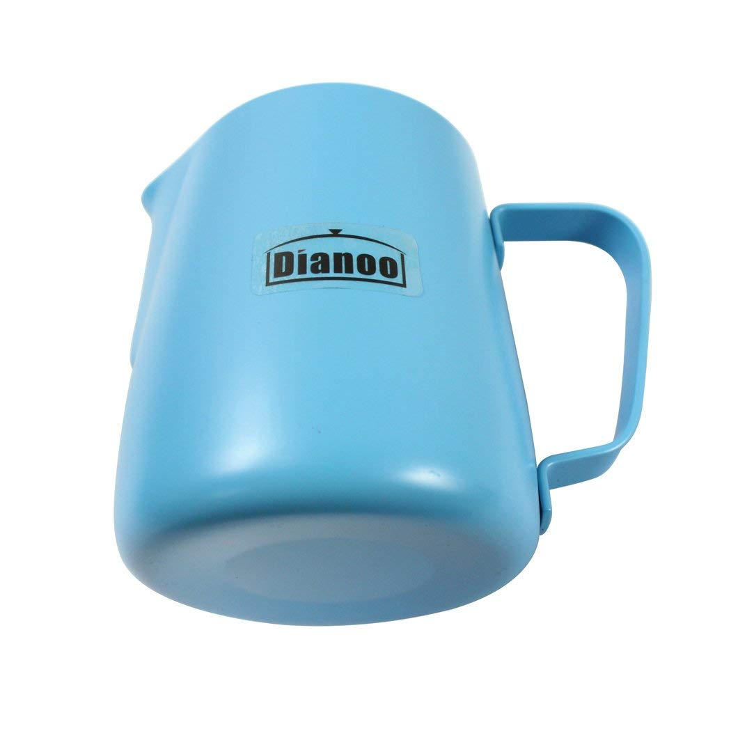 Stainless Steel Milk Steaming & Frothing Pitcher (600ml) - Coffee Latte Cappuccino - Blue