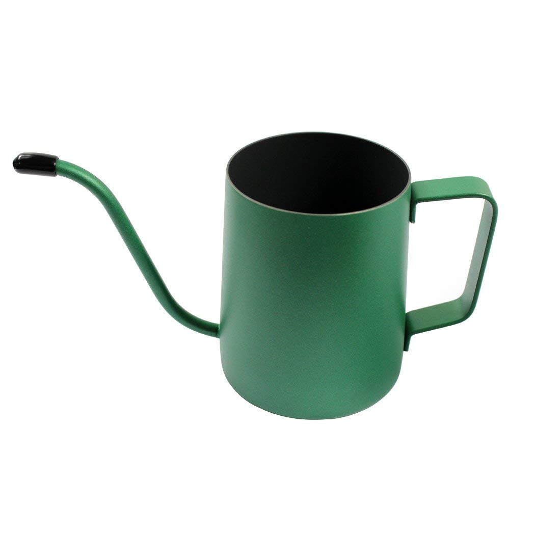 Dianoo 350 ML Stainless Steel Long Narrow Spout Coffee Pot, Hanging Ear Coffee Cup, Hand Drip Kettle Coffee Pot Tea Pot - Deep Green