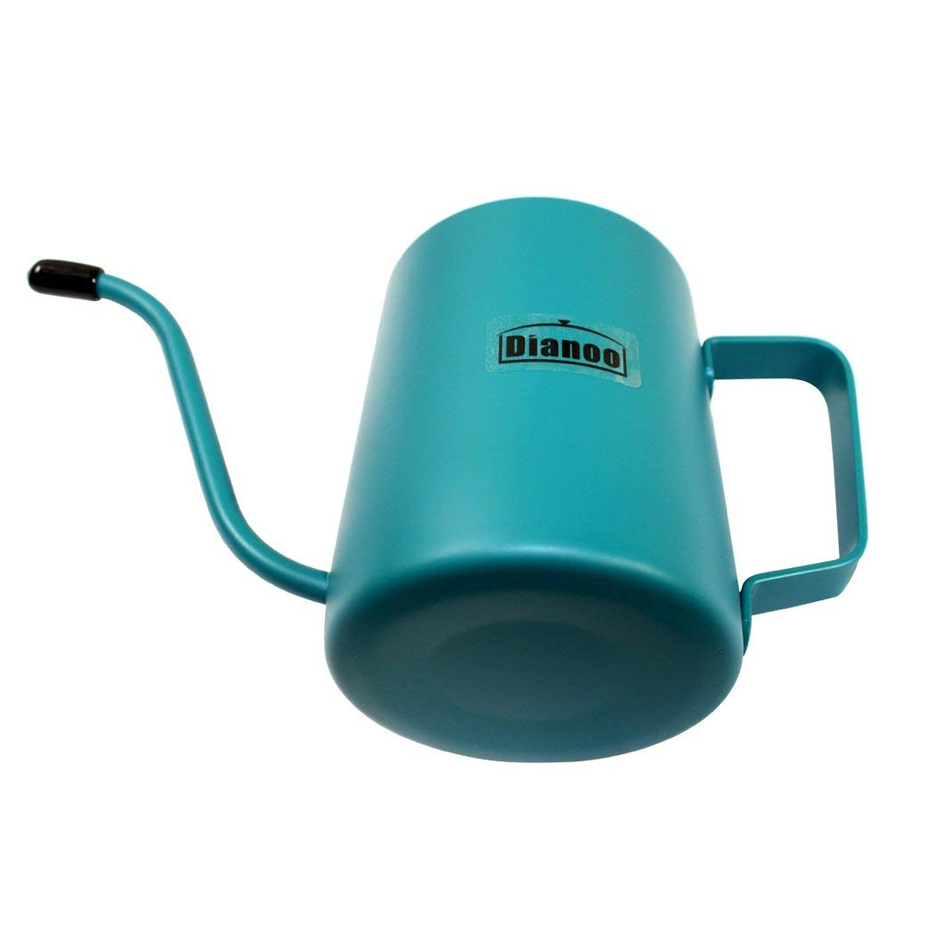 Dianoo 350 ML Stainless Steel Long Narrow Spout Coffee Pot, Hanging Ear Coffee Cup, Hand Drip Kettle Coffee Pot Tea Pot - Cold Blue