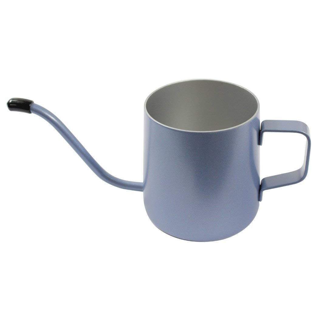 Dianoo 350 ML Stainless Steel Long Narrow Spout Coffee Pot, Hanging Ear Coffee Cup, Hand Drip Kettle Coffee Pot Tea Pot - Jazz Blue