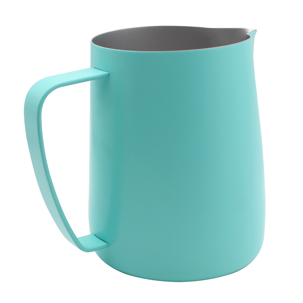 Dianoo Stainless Steel Frothing Pitcher Jug Steaming Pitcher Suitable For Coffee, Latte And Frothing Milk Blue