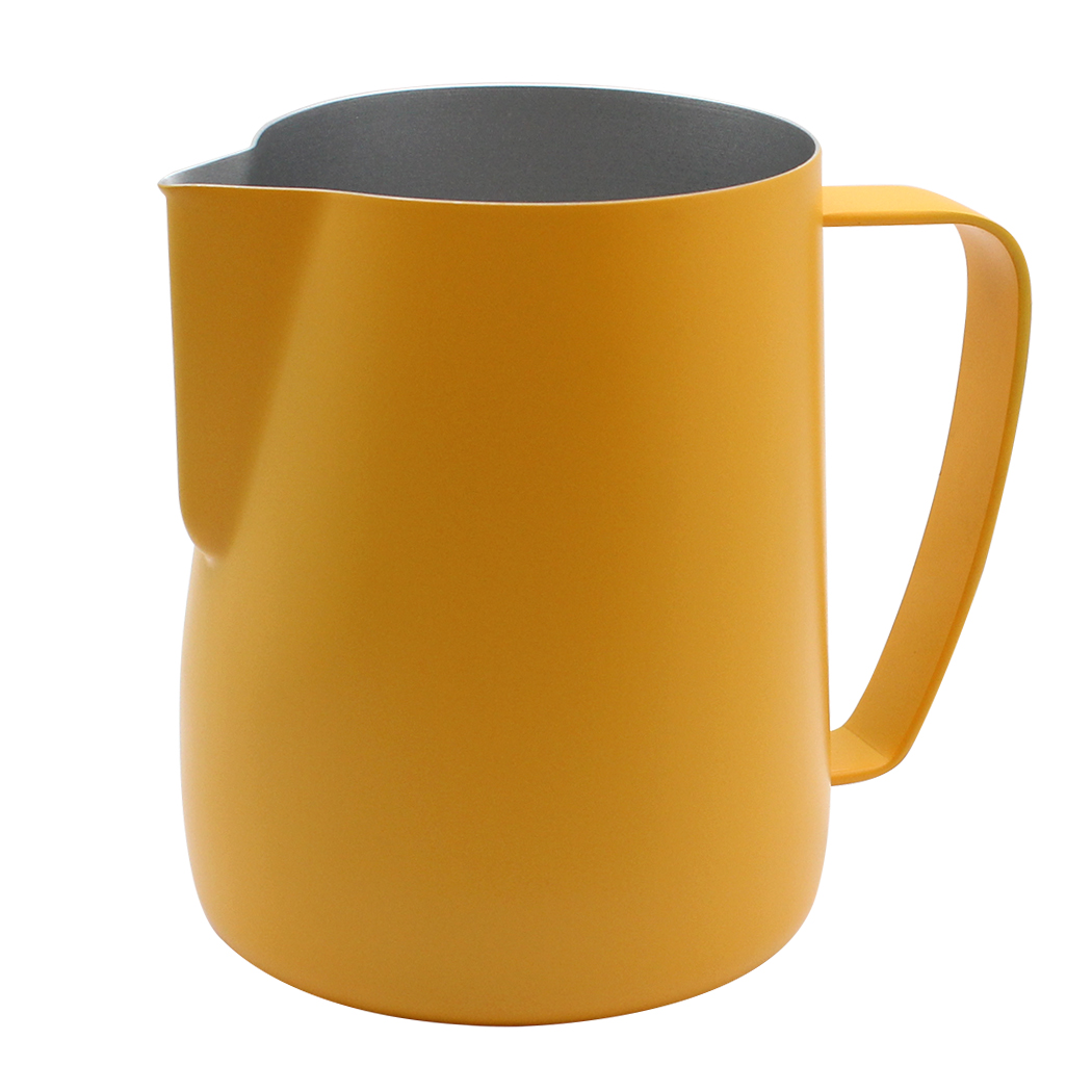 Dianoo Milk Pitcher Stainless Steel Espresso Pitcher Latte Frothing Pitcher Yellow