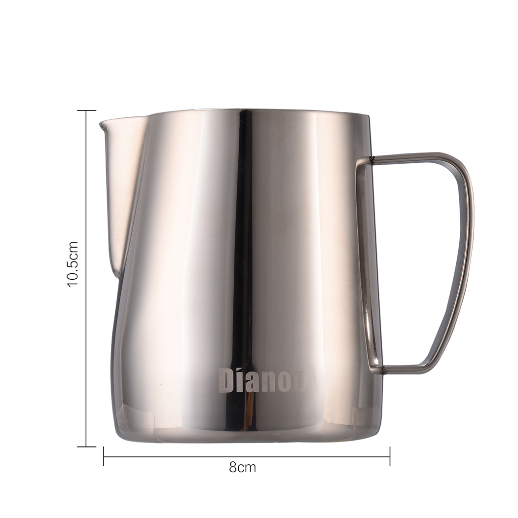 Dianoo Stainless Steel Milk Frothing Pitcher Creamer Frothing Pitcher Latte Art Cup For Espresso Cappuccino Coffee