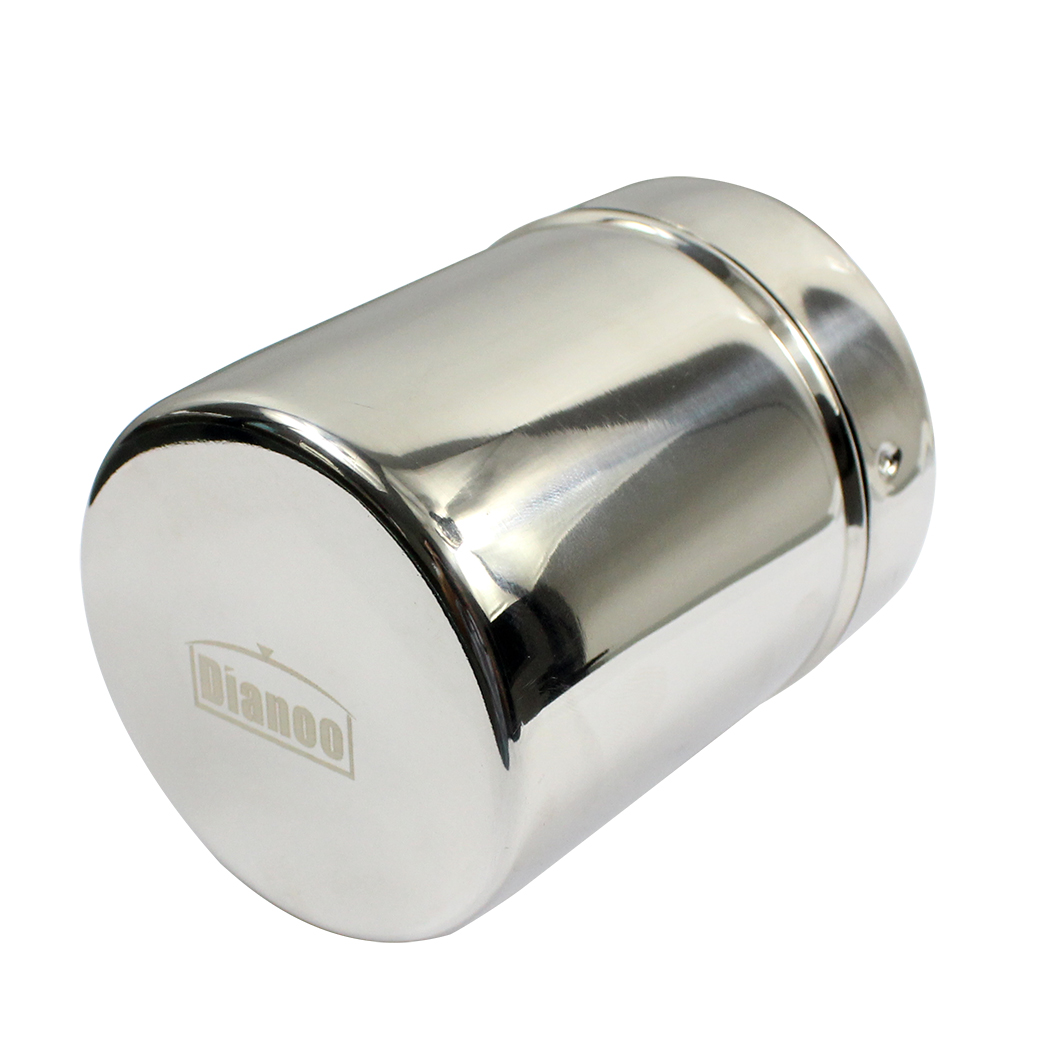 Dianoo Stainless Steel Dredge Salt Pepper Shaker Seasoning Cans Sugar Spice