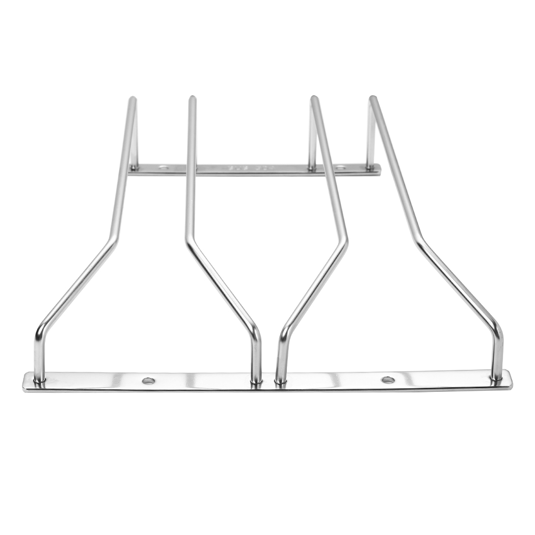Dianoo 2 Rows 27cm Wine Glass Racks, Stemware Racks, Stainless Steel Bar Home Cup Glass Holder, Wine Glass Rack Hanger, Under Cabinet Wine Glass Stemware Rack Holder, 2 Rows