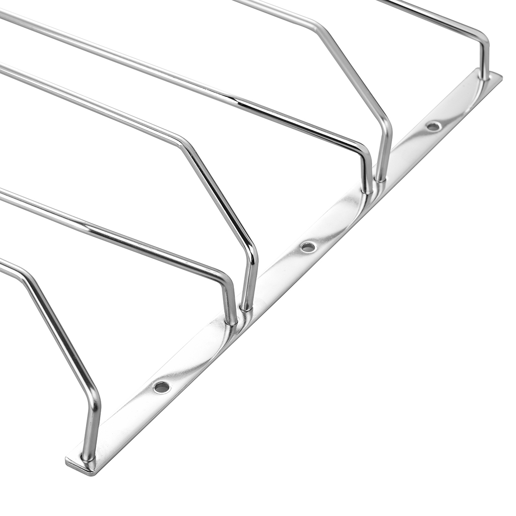 Dianoo Under Cabinet Stemware Rack Holder wine glass rack stainless steel Wire Hanging Rack 40CM 3 Rows