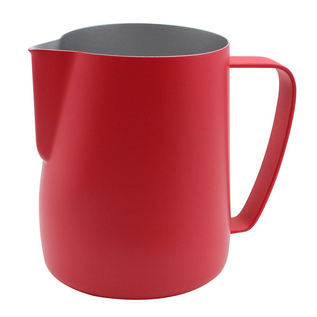 Dianoo Milk Frothing Pitcher Stainless Steel Creamer Frothing Pitcher Espresso Cappuccino Coffee Steaming chef Red