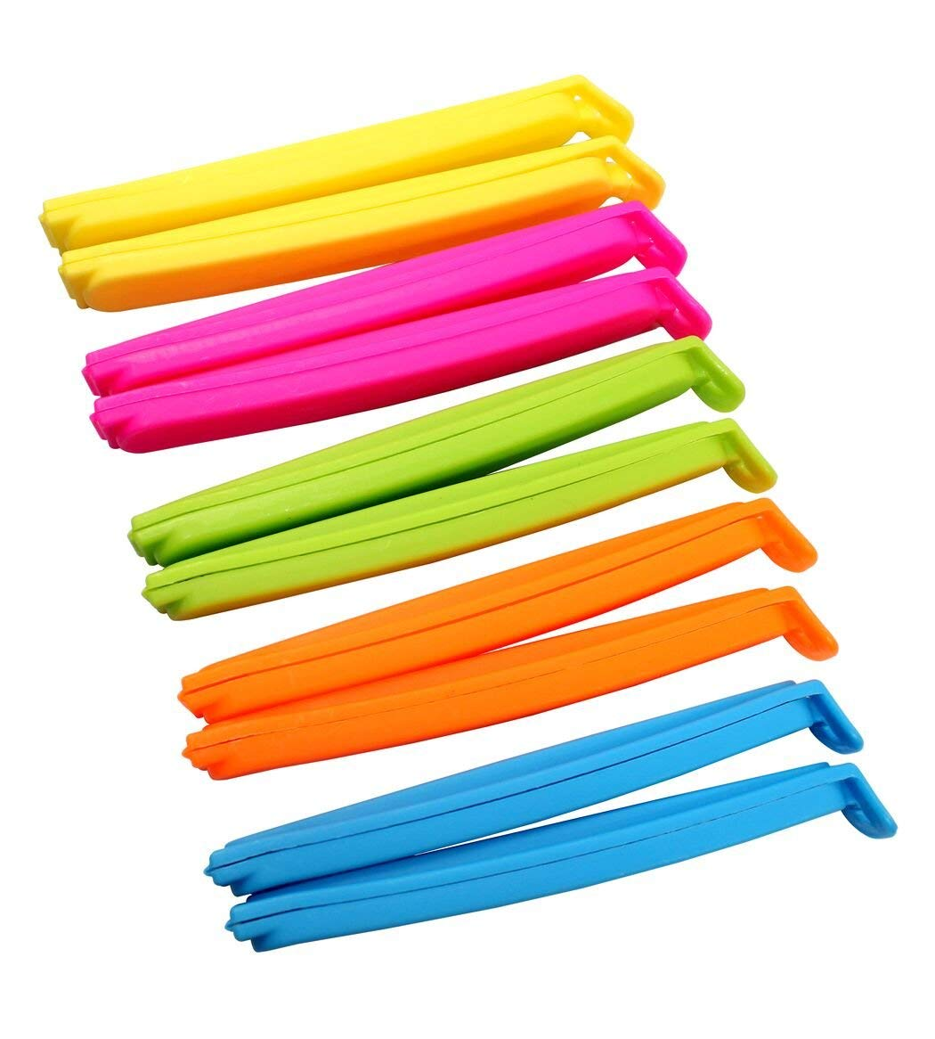 Dianoo 20pcs Multicolor Food Bags Sealing Clips For Kitchen And Home 11.5cm