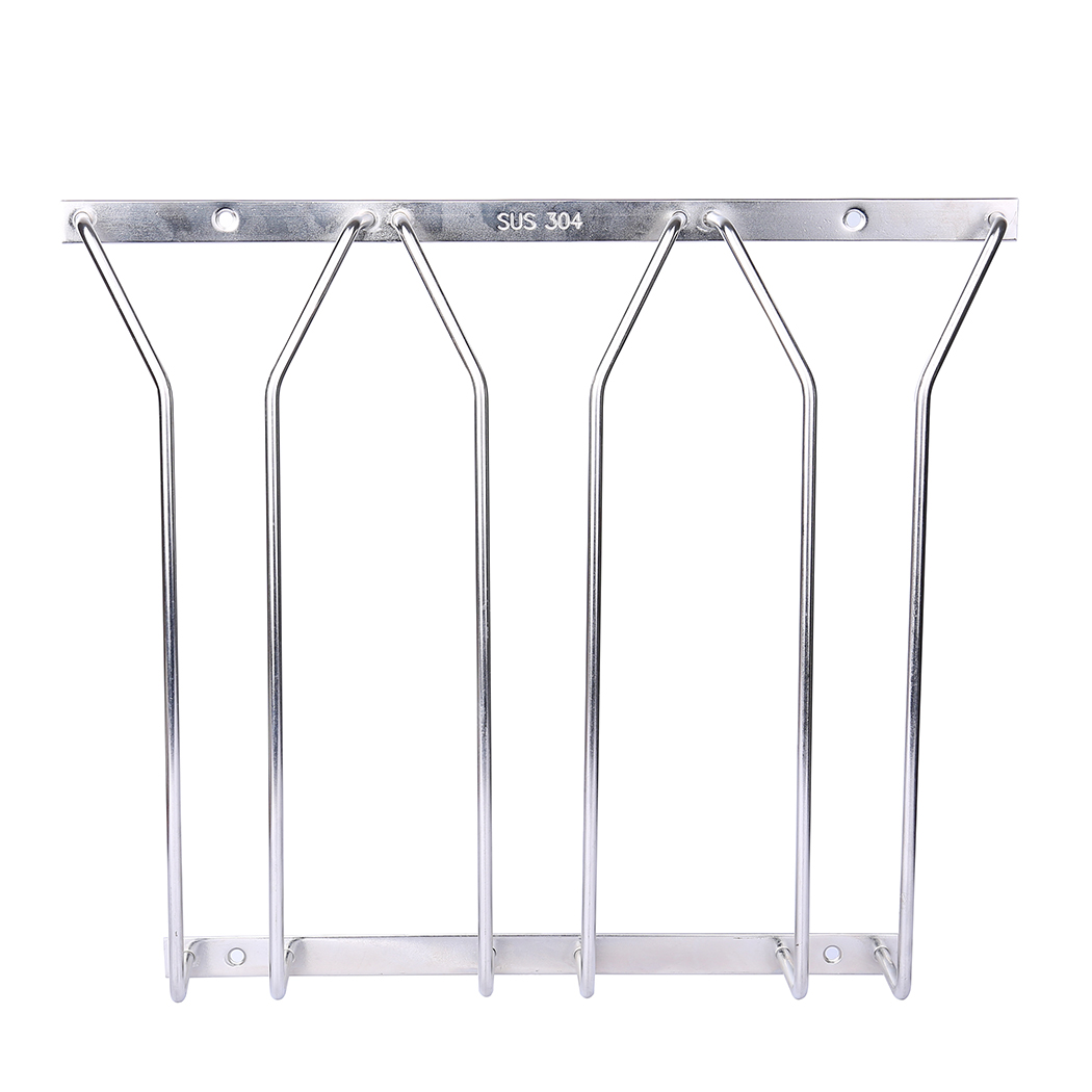 Dianoo 3 Row Wine Glass Rack Wire Hanging Rack Stainless Steel Stemware Rack Holder Under Cabinet 10.78 Inch